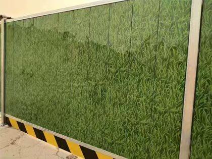 西安施工围挡 公路施工PVC围挡订做 高速公路护栏网