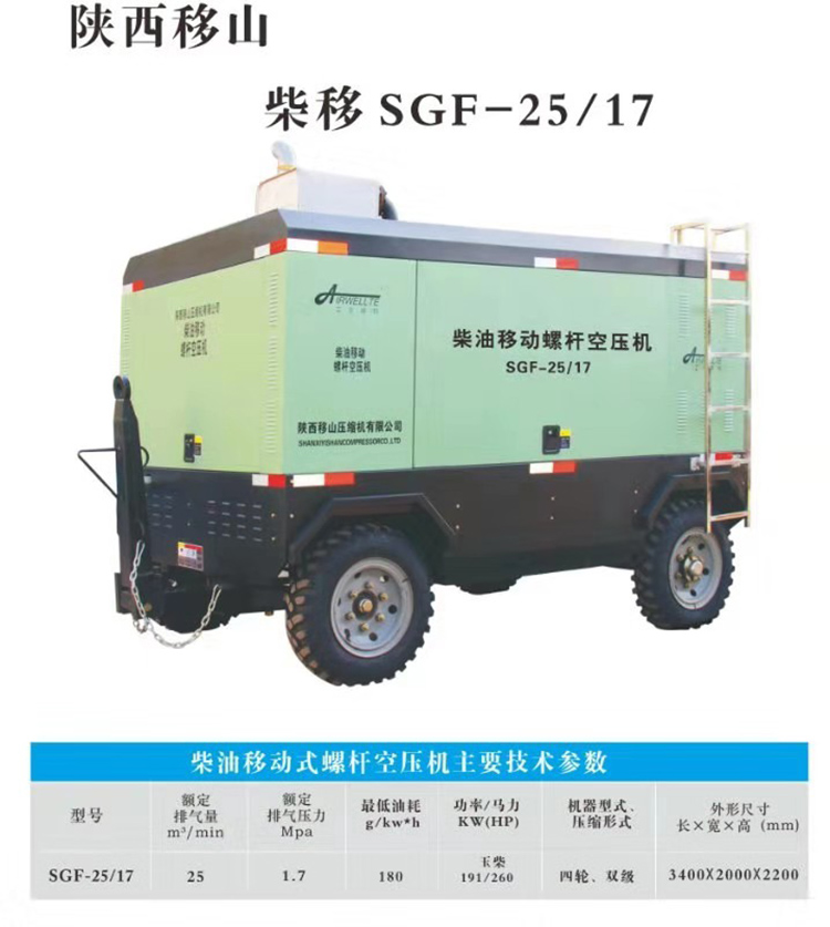 SGF-25/17柴油螺杆固定空压机