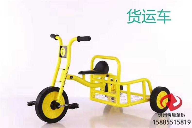 黔南幼儿园儿童三轮车 幼儿园多人旋转脚踏车