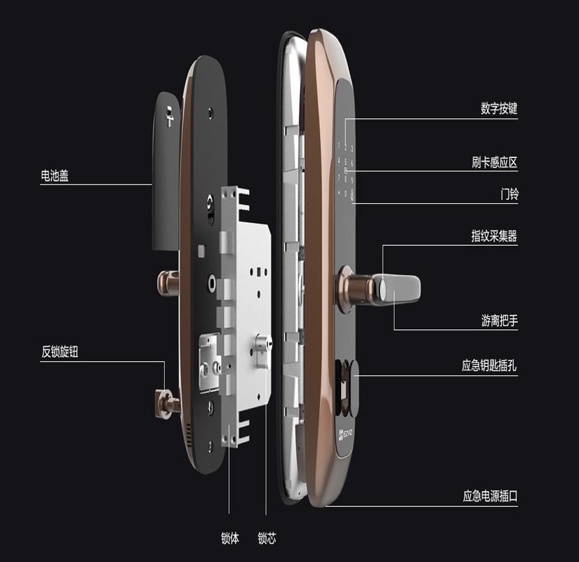 防盗门全智能电子锁家用指纹锁远程手机开门密码锁通用防盗锁