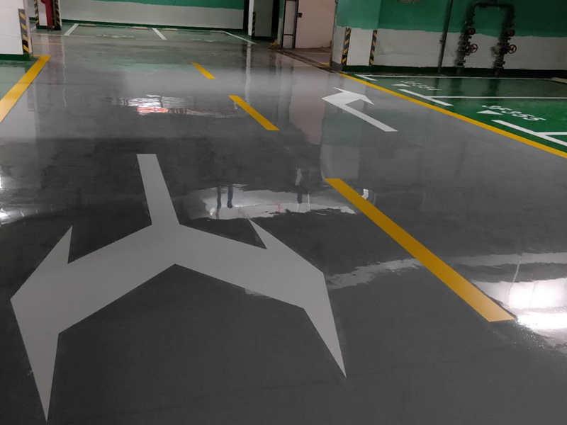 道路划线、厂区道路划线、工厂停车场