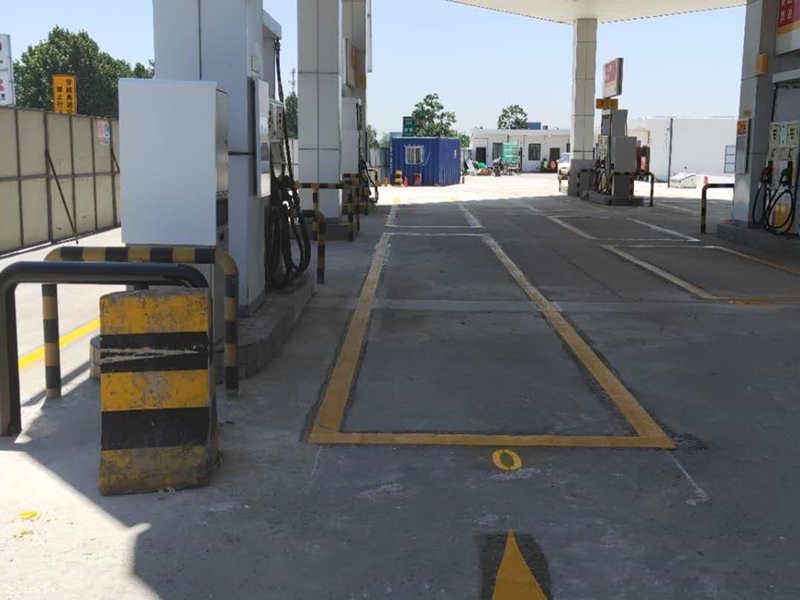地下车库停车场装修设计 车位划线环氧地坪交通设施安装