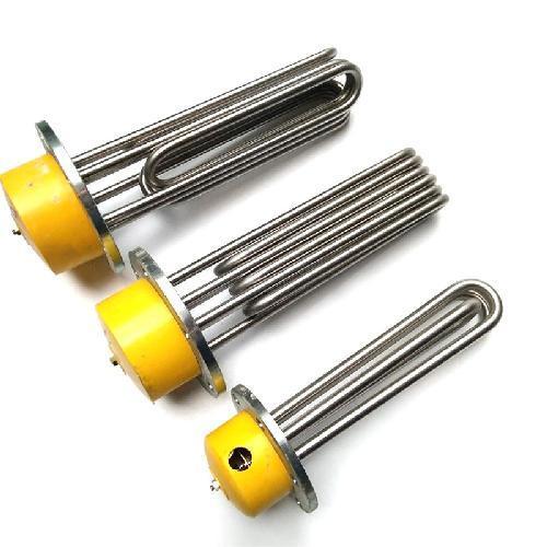 厂家非标定制不锈钢法兰加热管 工业高温锅炉电热管  水箱油箱加热管