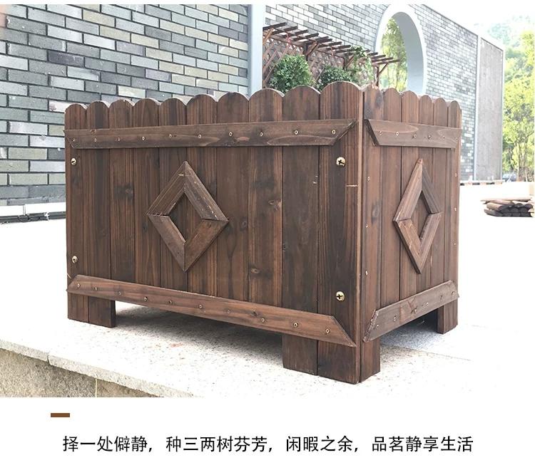 碳化木,西安碳化木厂家 ,碳化木花箱厂家