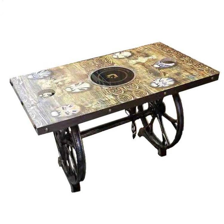 火锅店石材桌椅,陕西美食城火锅桌椅厂家