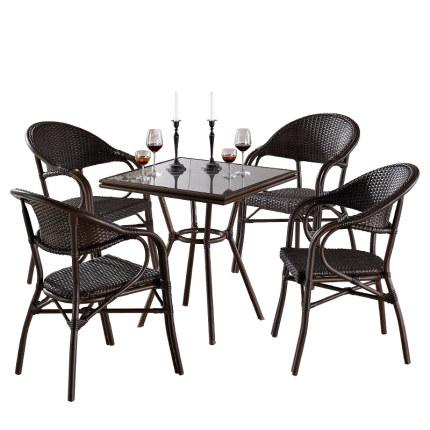 庭院喝茶桌椅 喝茶休闲桌椅 露天户外桌椅