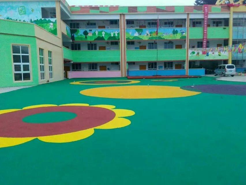 幼儿园橡胶地板  橡胶地板厂家定做