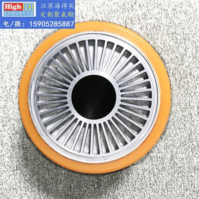 聚氨酯轮子,聚氨酯包胶轮,聚氨酯滚轮,轮子包胶维修,选聚氨酯专家江苏海得实聚氨酯