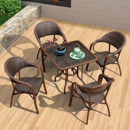 室外桌椅 庭院休闲桌椅 高端户外藤椅