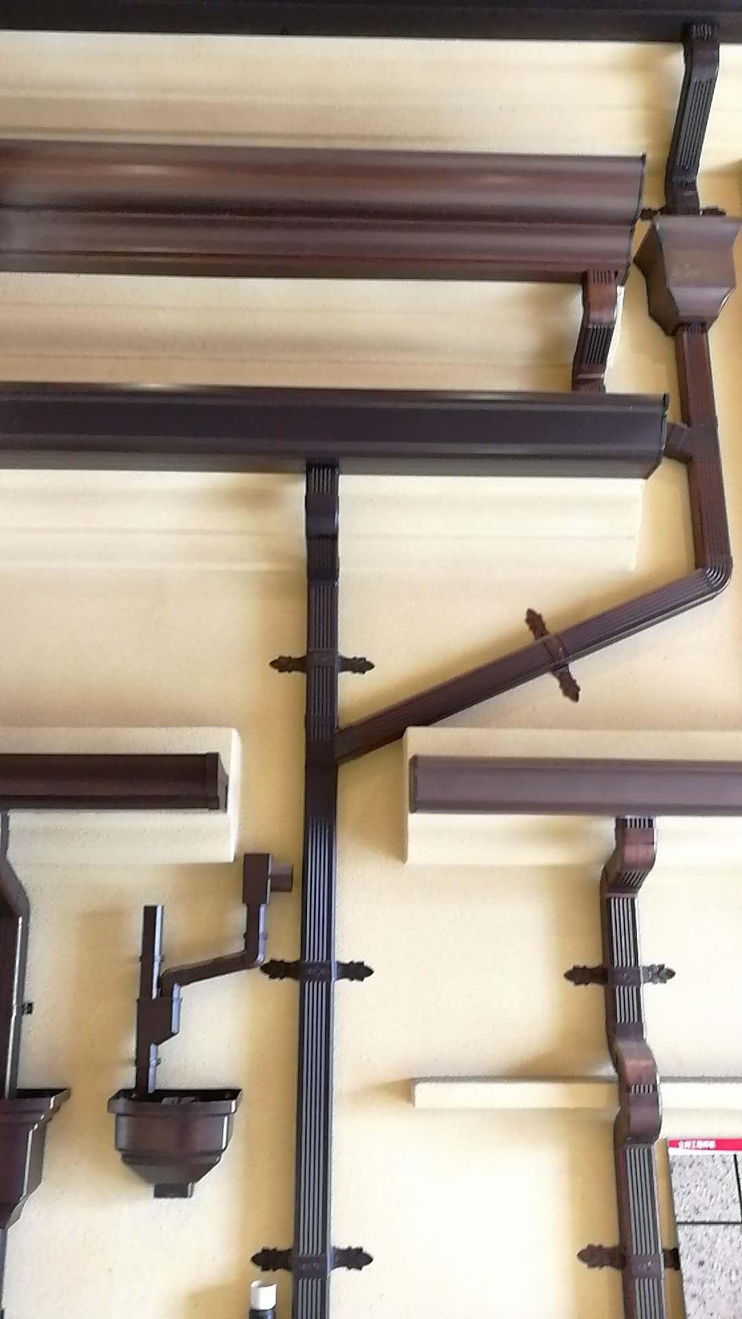 成品天沟 铝合金天沟 金属檐沟 雨水斗 雨水管 立管 弯头 管卡
