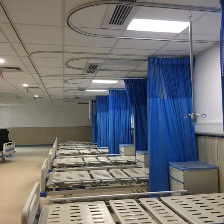 L型医院隔帘轨道 输液轨道厂家 医院病房输液吊架