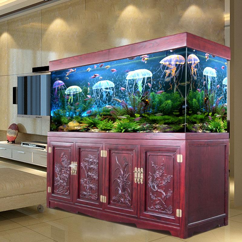 陕西西安实木鱼缸龙鱼缸水族大森林鱼缸