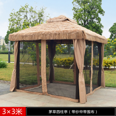 陕西稻草篷 稻草篷厂家售卖 稻草篷 仿古遮阳篷 仿古稻草篷