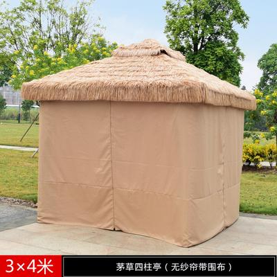 遮阳篷 仿古遮阳篷 陕西仿古遮阳篷 稻草遮阳篷