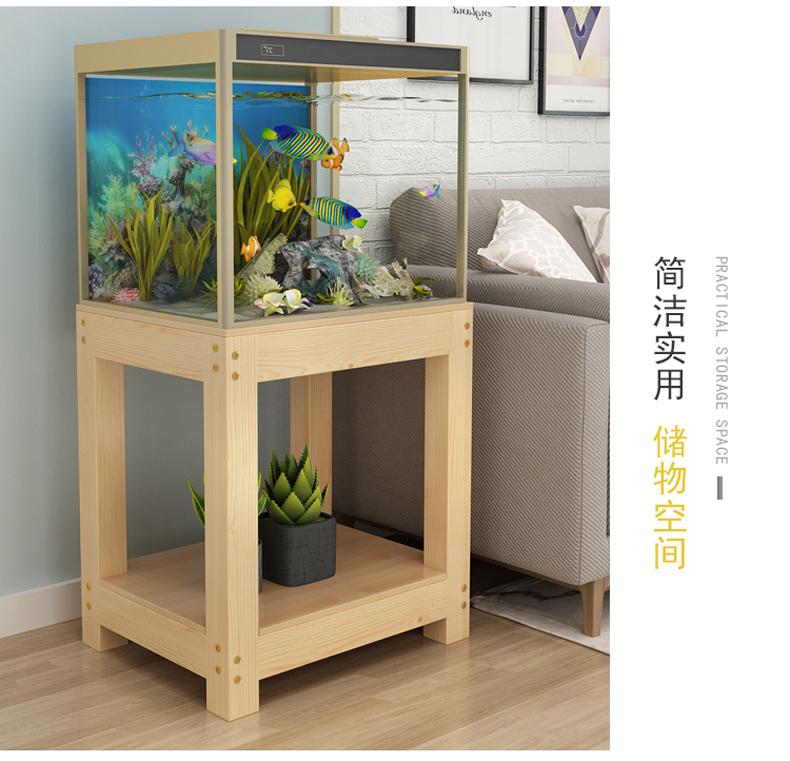 西安鱼缸底柜鱼缸柜子实木底座鱼缸架水族箱架子鱼缸桌子实木鱼缸架子