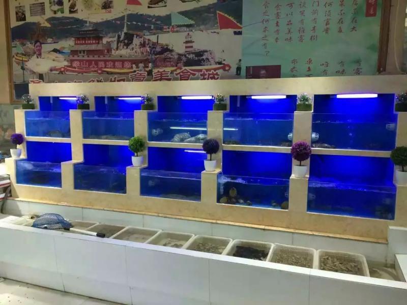 陕西西安本地及周边专业定做海鲜池