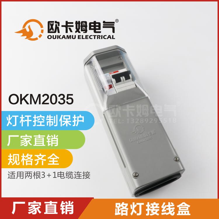 路灯接线盒 灯杆内漏电熔断路器控制保护配电 路灯配电箱 EKM2035