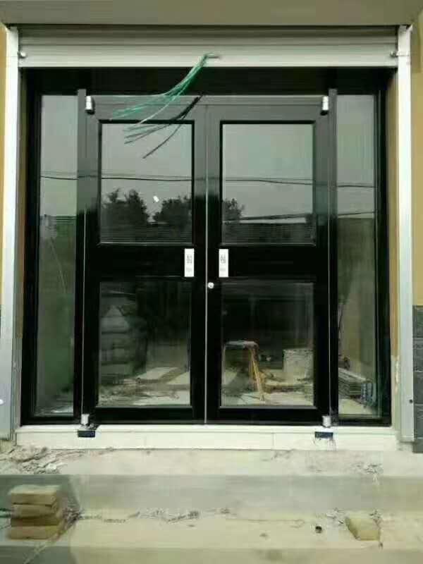甘肃兰州肯德基门 指纹刷卡玻璃门 人脸识别门禁玻璃门