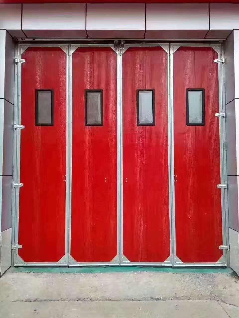 甘肃平凉折叠大门 电动折叠门 折叠大门 厂家 厂房折叠大门