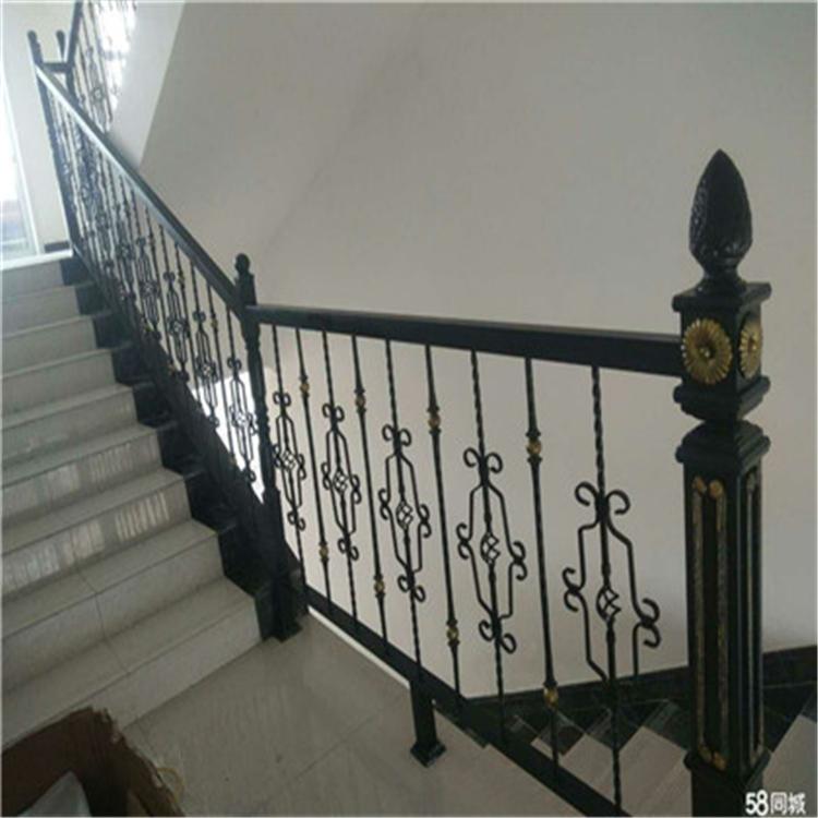 铁艺楼梯栏杆 铁艺楼梯价格 楼梯栏杆款式齐全
