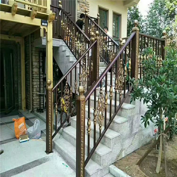 别墅酒店用铝艺楼梯 铝艺楼梯定制 厂家直销