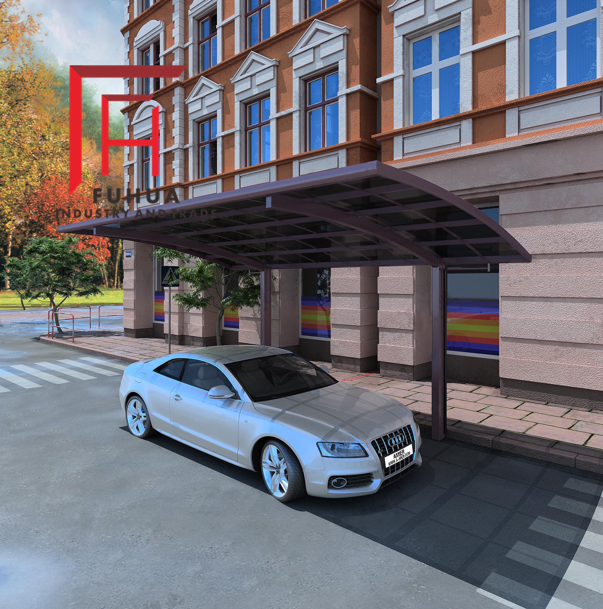 铝合金车棚批发 膜结构停车雨棚 防晒车棚