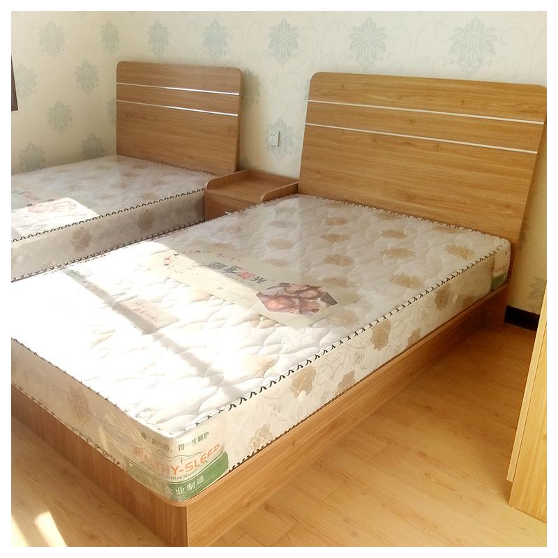 西安酒店宾馆家具床定制厂家公寓床酒店宾馆全套客房家具床写字桌行李柜
