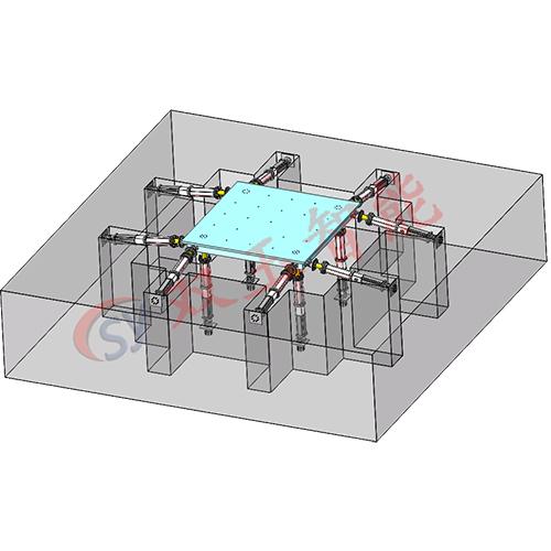 六自由度地震模拟平台  航空模拟装置