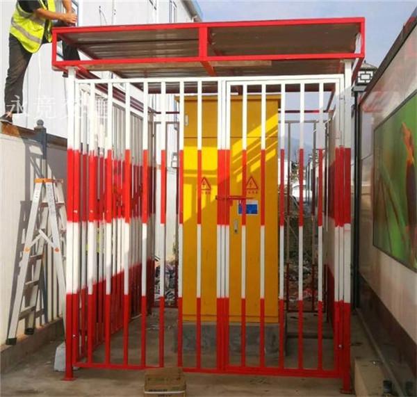 贵州配电箱防护棚工地一级二级配电箱防护栏电柜防雨棚临时防护罩