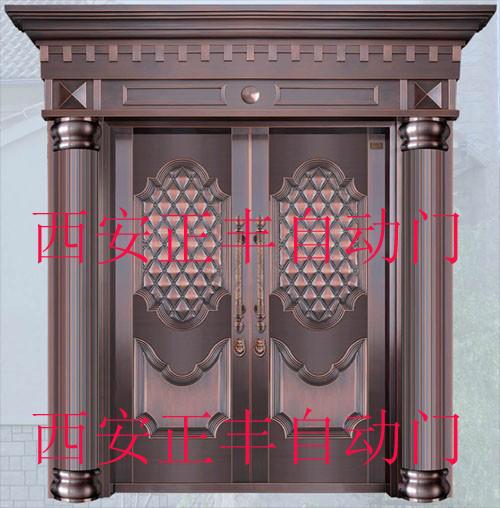 陕西别墅铜门厂家 酒店公寓铜门专业生产定做安装
