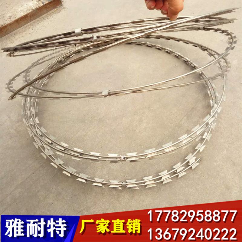 陕西镀锌刺绳 西安刺绳防护网 铁丝刺绳 刺丝刺绳 钢丝刺绳
