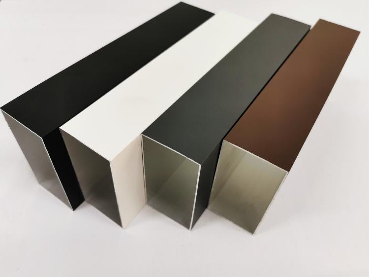 铝方管合金型材木纹铝方通扁通空心管四方隔断矩形铝管加工隔断