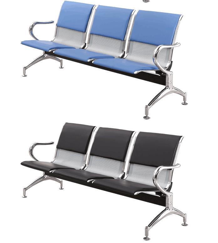 西安现货批发排椅医院等候椅三四五人位机场椅电镀带扶手厂家直销