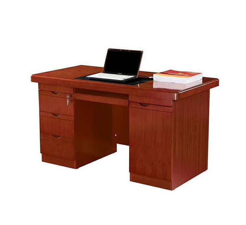 西安库存现货厂家直销批发胡桃木皮实木油漆办公电脑桌带抽屉