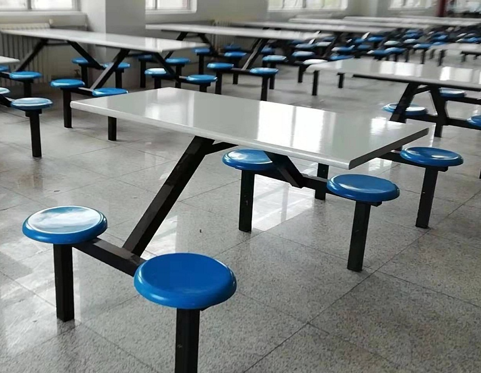 西安家具厂现货定制学校食堂玻璃钢餐桌椅价格肯德基餐桌椅