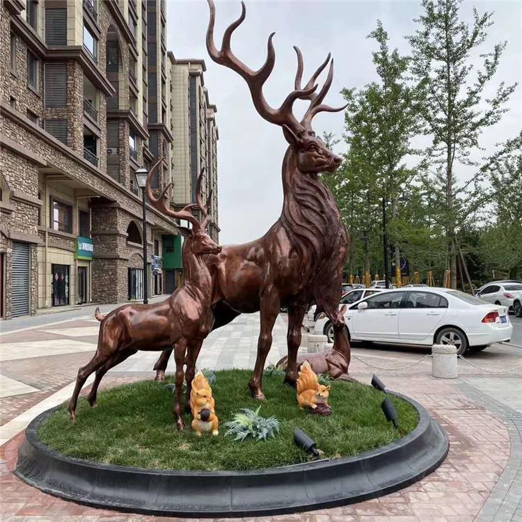 陕西园林景观雕塑 不锈钢雕塑 金属锻造雕塑 锻铜雕塑厂家定做