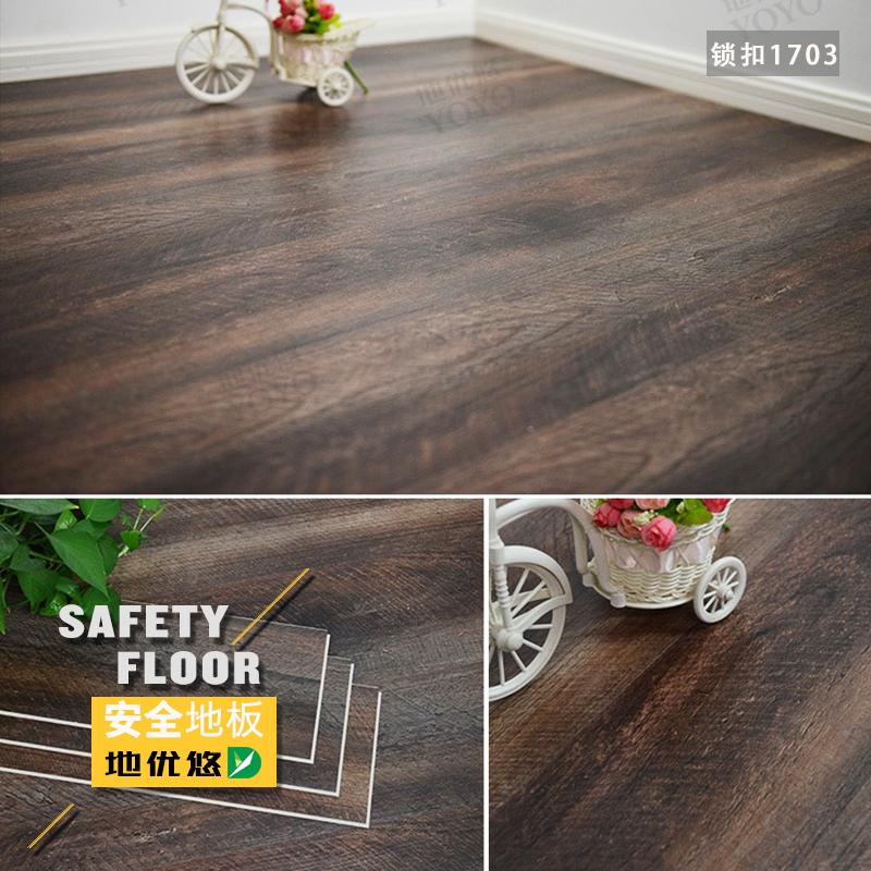 石塑地板 spc锁扣防水仿木pvc板 商用家用全新料耐磨防滑