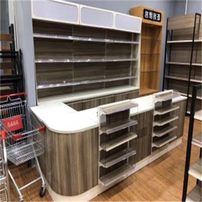 贵州厂家供应超市收银台前台简约现代收银台柜台小型吧台超市服装收银