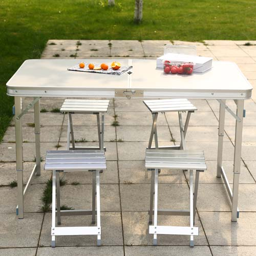 便携式野餐露营桌子 户外便叠桌椅套装