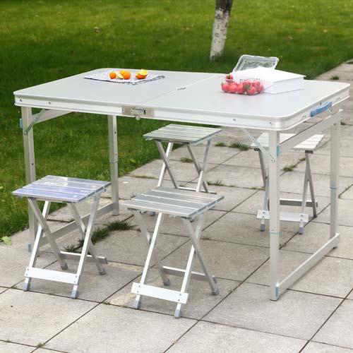便携式折叠桌椅套装 铝合金折叠桌椅 摆摊桌椅