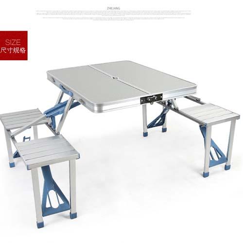 便携式桌椅 铝合金连体桌椅 摆摊折叠小桌子