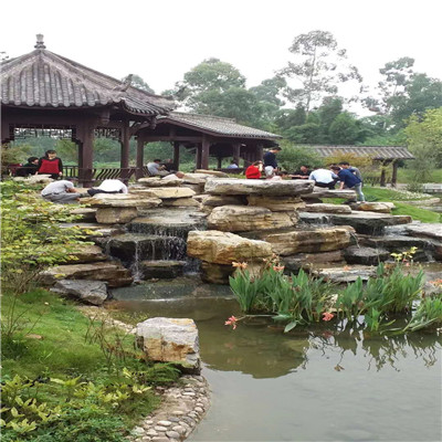 贵州厂家加工定做大型千层石 园林假山石直销