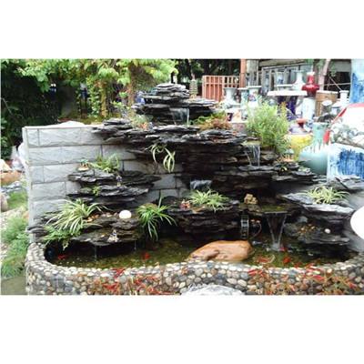 贵州厂家供应灵璧龟纹石黑色龟纹石 景区龟纹石假山价格