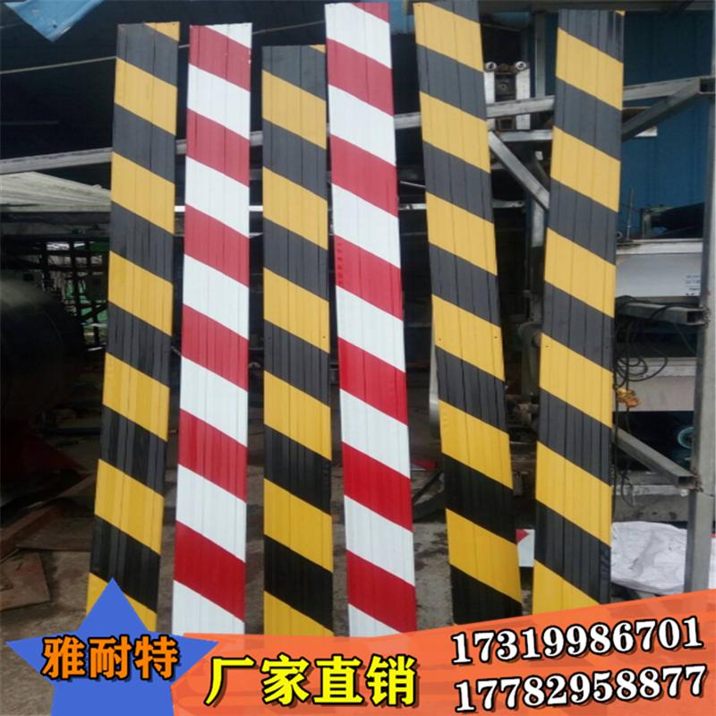 西安铁皮警示带 踢挡脚板线 建筑楼层铁皮 挡脚板警示带 黄黑红白分层条