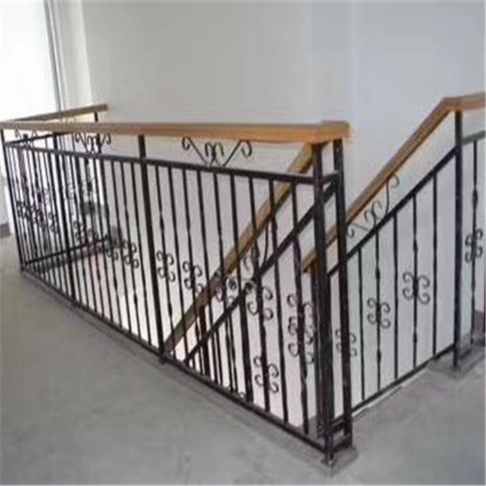 西安楼梯铁艺栏杆  铁艺楼梯护栏价格 楼梯护栏厂家