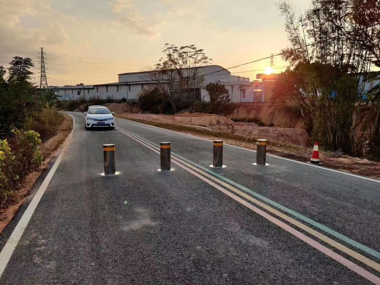 青海西宁升降柱、液压升降柱、小区拦路器、道路路障器