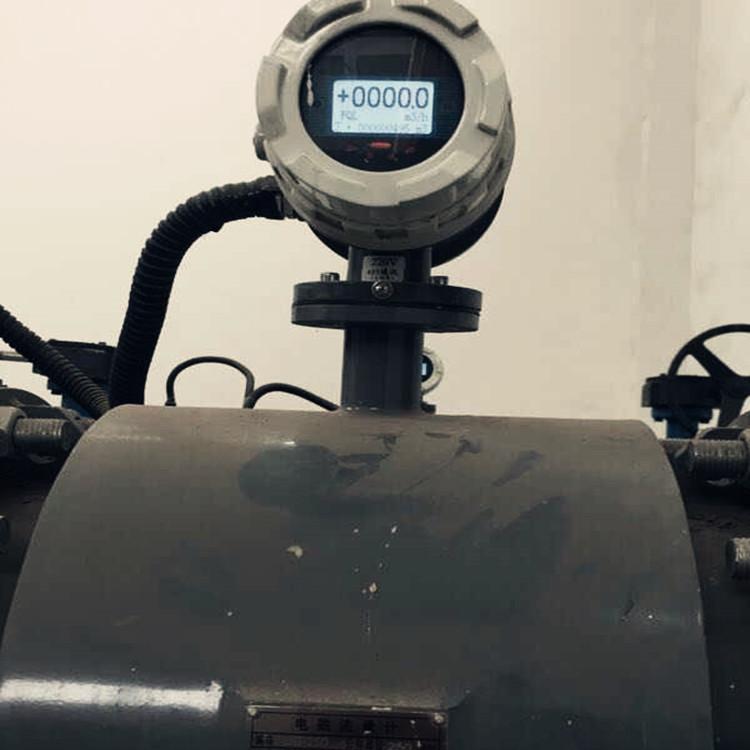 供应耐高温PTFE衬里电磁流量计耐腐蚀污水流量计直观显示流量计