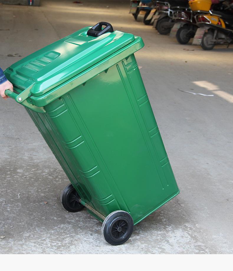 240L铁质垃圾桶 铁质垃圾桶 乡村分类垃圾桶