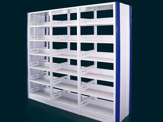 钢制图书馆书架 学校阅读室 资料架 图纸架 双面单面书架 厂家直销批发