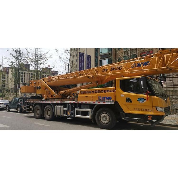 贵州花溪区履带35吨吊车租赁随车吊吊车同时支持高空吊装
